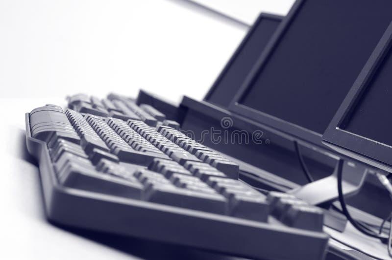 Détails de salle des ordinateurs photos libres de droits