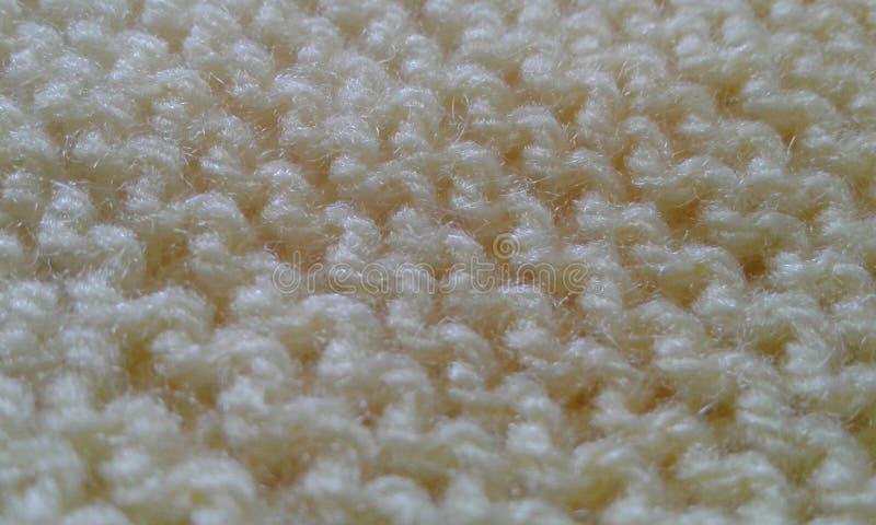 Détails de texture de tissu de jaune de laine de tissu image libre de droits