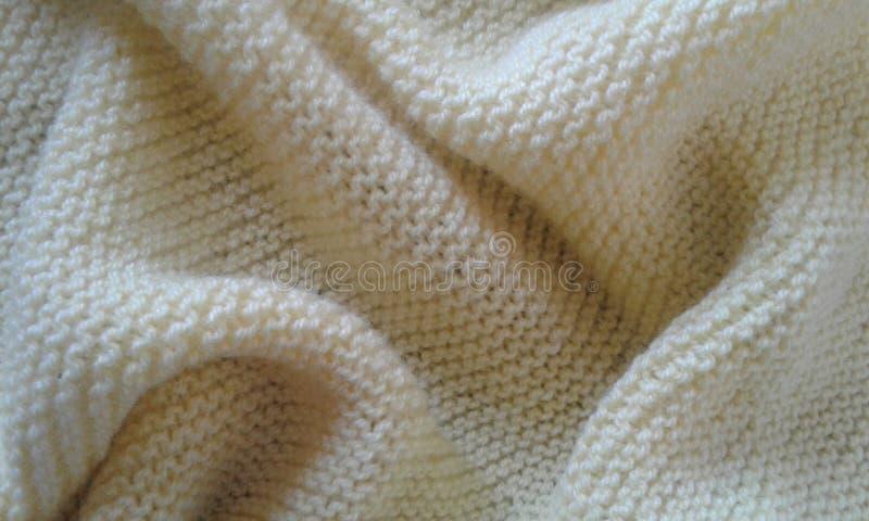 Détails de texture de tissu de jaune de laine de tissu photos stock