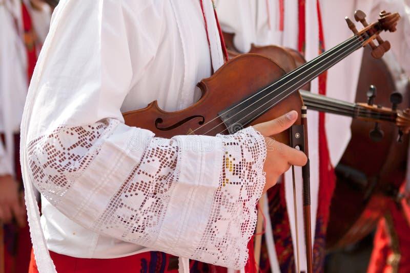 Détails de violon image libre de droits
