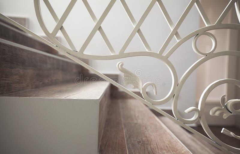 Détails des escaliers décoratifs images libres de droits