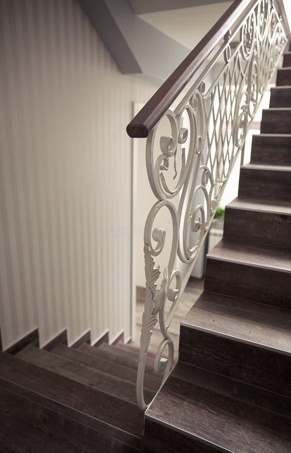 Détails des escaliers décoratifs images stock