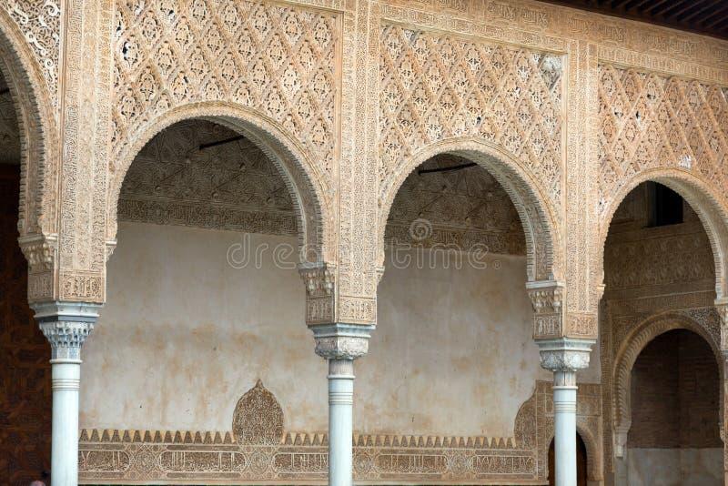 Détails des myrtes à Alhambra image stock