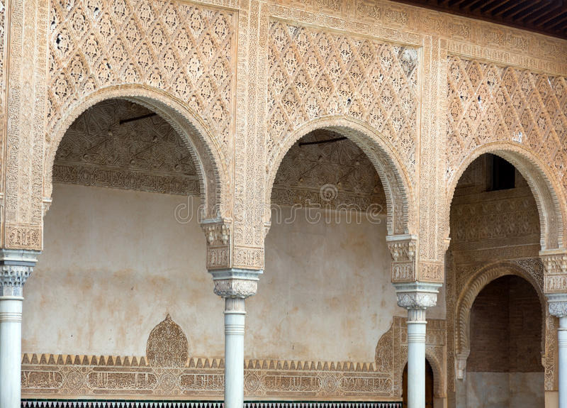 Détails des myrtes (Patio de los Arrayanes) à Alhambra photos stock
