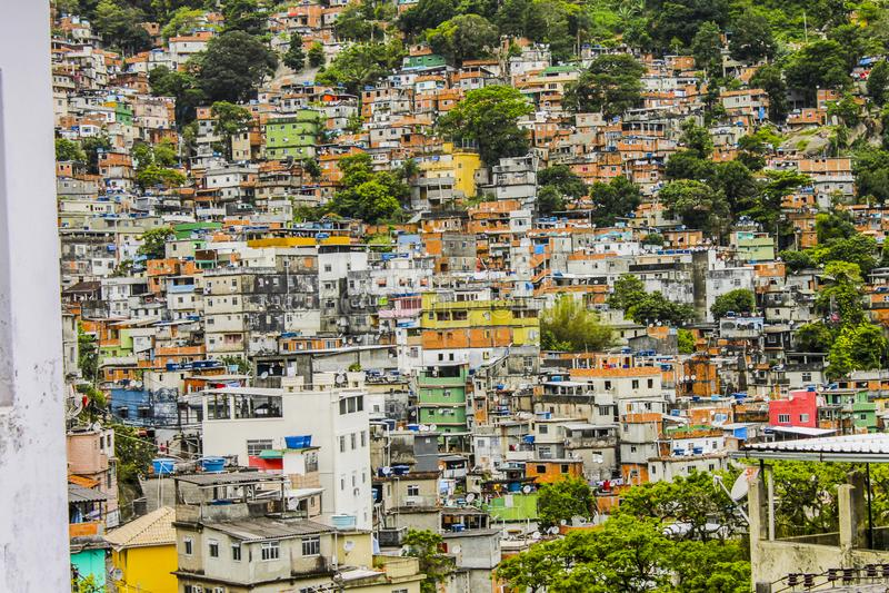 Détails du favela de Rocinha en Rio de Janeiro photographie stock