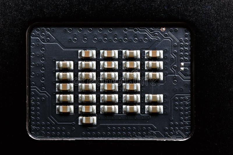 Détails et composants d'appareil électronique images stock