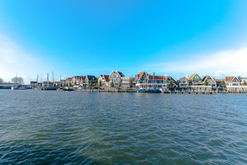 Détails et fragments dans le village de Volendam netherlands image libre de droits