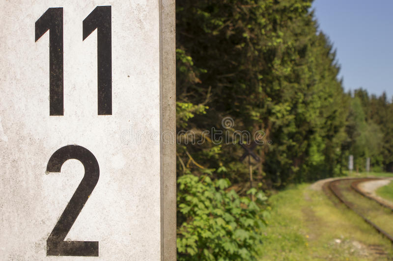 Détails ferroviaires de voies de garage 012-130509 images libres de droits