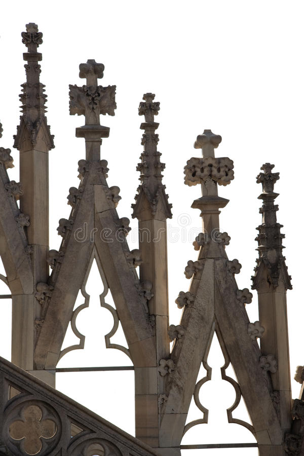 Détails gothiques de cathédrale photographie stock libre de droits