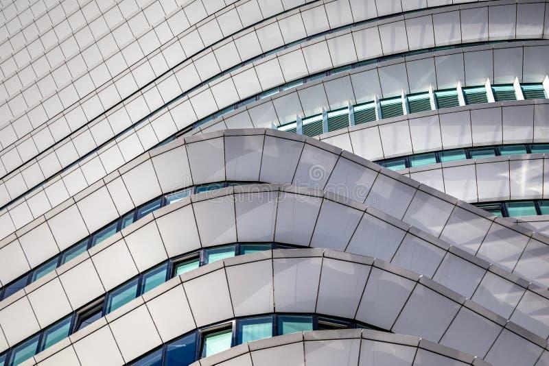 Détails incurvés d'architecture moderne aux Pays-Bas images stock