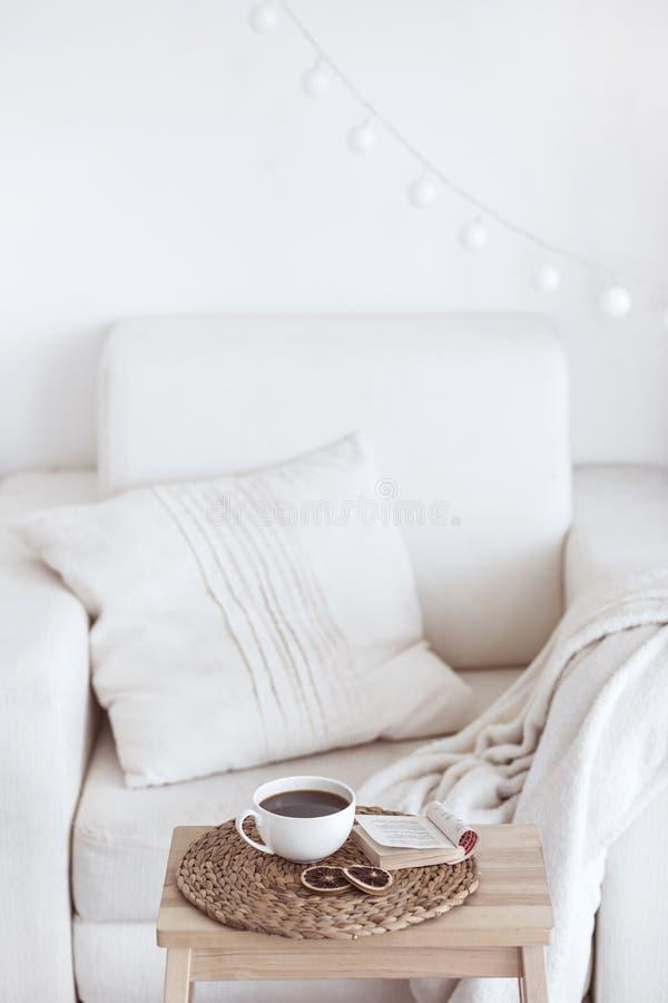 Détails intérieurs confortables photo stock