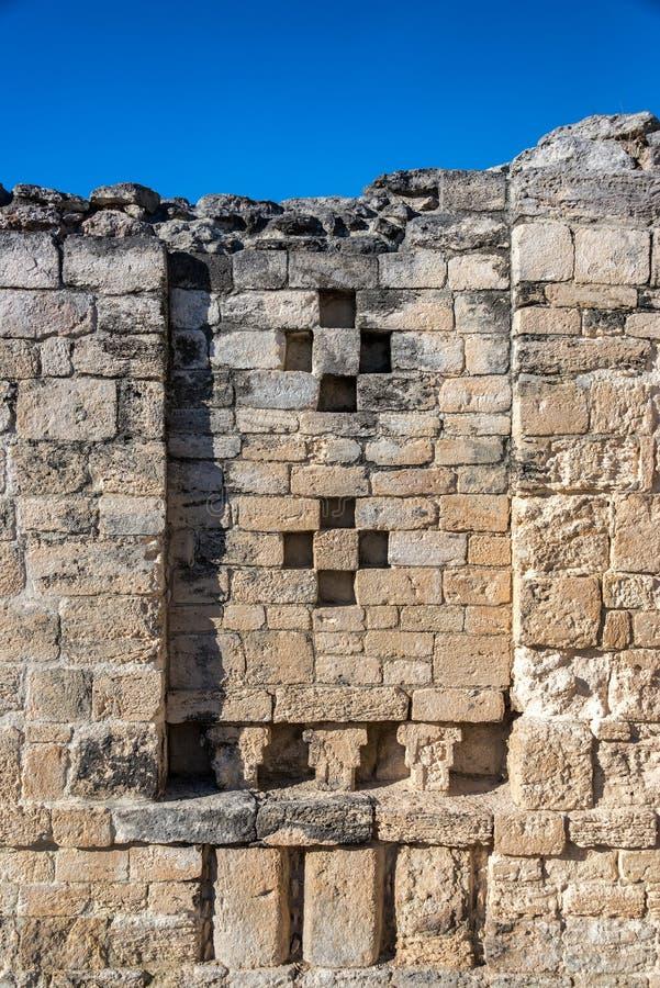 Détails maya de ruines image libre de droits