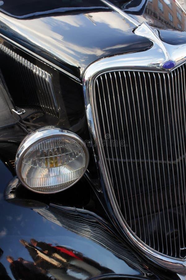 Détails noirs de voiture de vintage images libres de droits