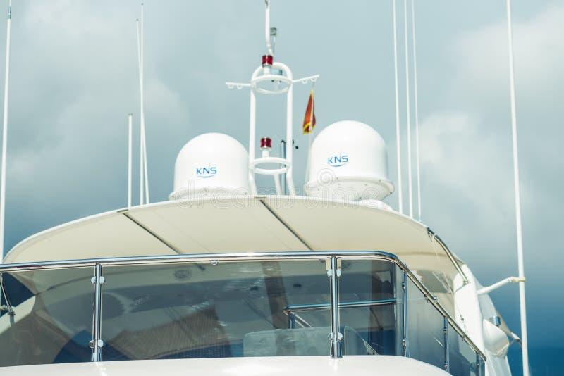 Détails superbes de yacht photos stock