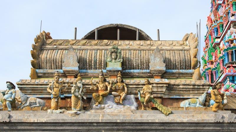 Détails sur un Kovil sur l'île de kayts - Jaffna - Sri Lanka image libre de droits