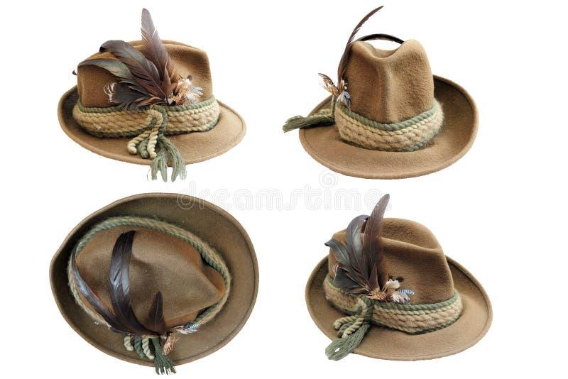 Détails traditionnels de chapeau de chasse photographie stock libre de droits