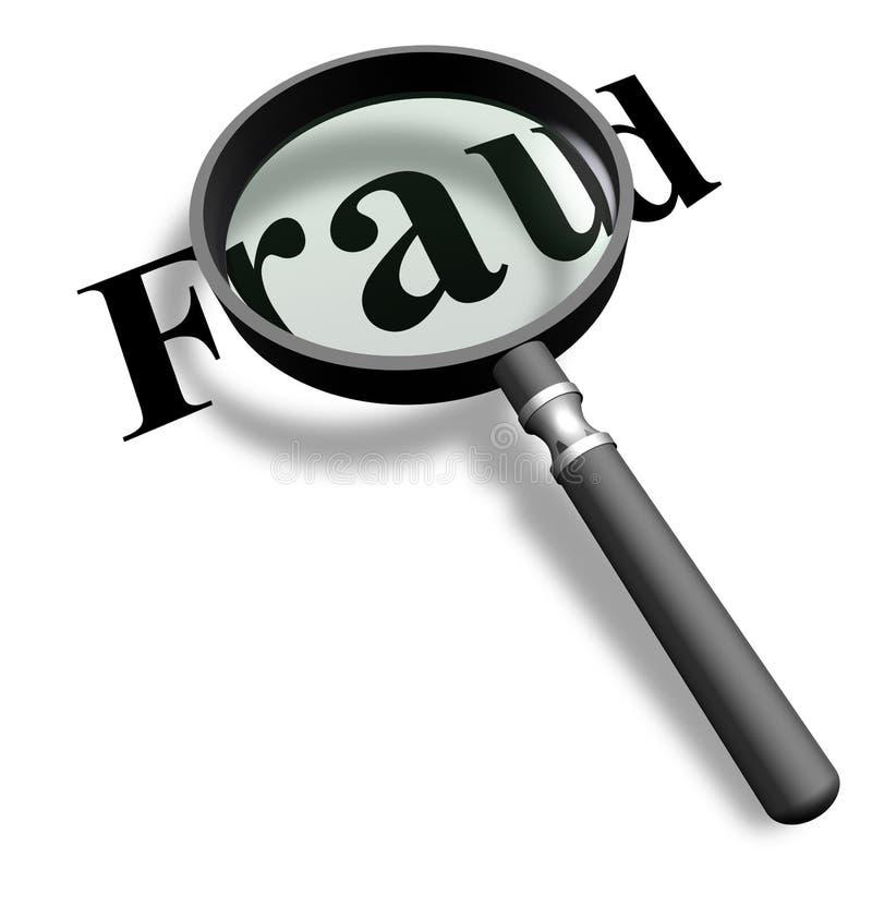Détection des fraudes avec une loupe illustration libre de droits