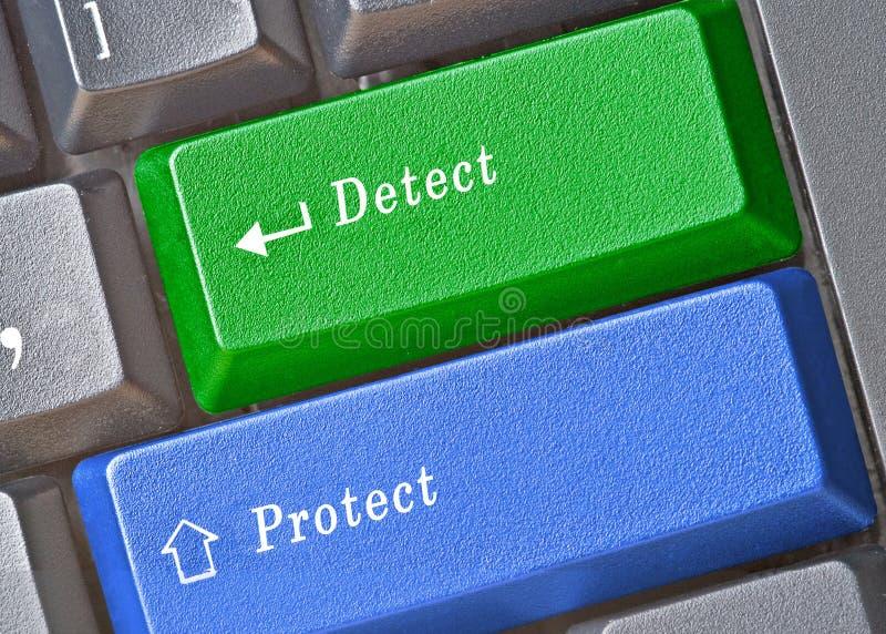 Détection et protection photos stock