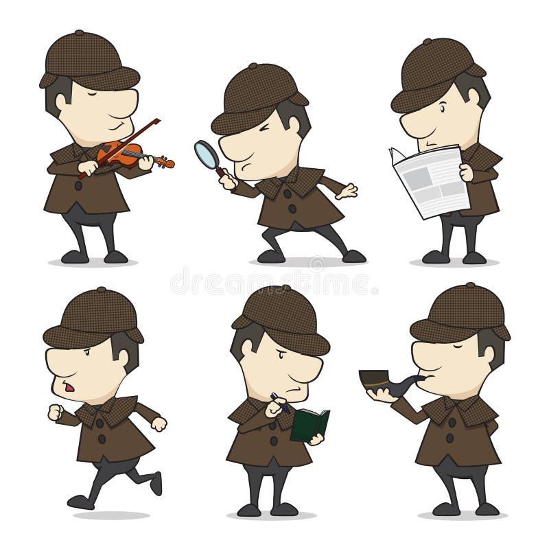 détective illustration stock