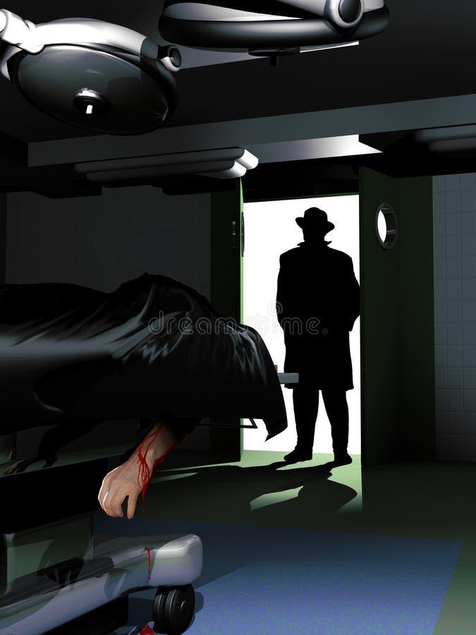 Détective de crime illustration stock