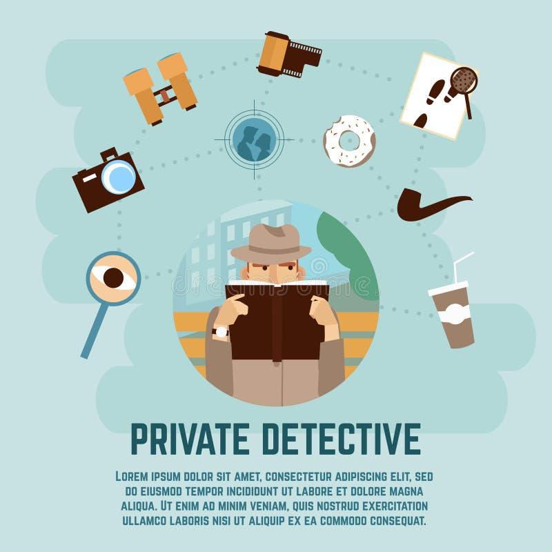 Détective privé Concept illustration de vecteur