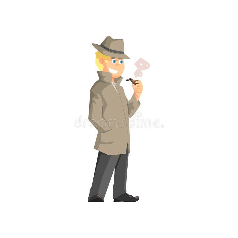 Détective privé masculin illustration de vecteur