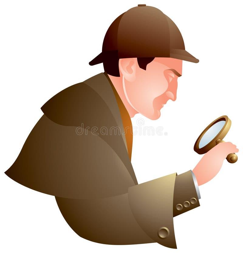 Détective, recherchant, Holmes illustration stock