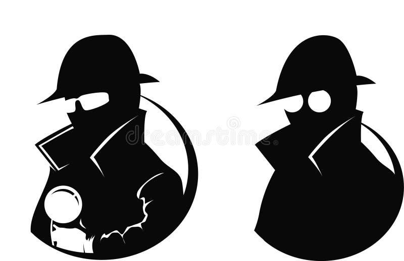 Détective - silhouette illustration stock