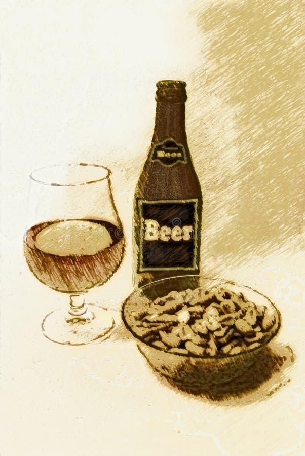 Détendez avec de la bière ! illustration de vecteur