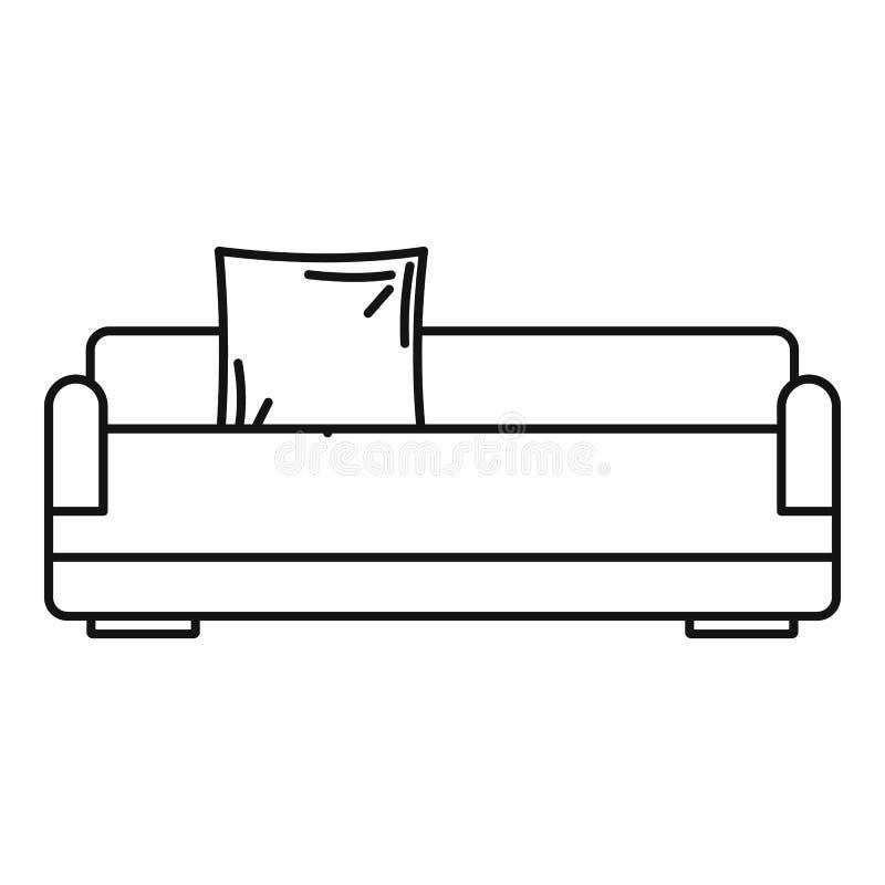 Détendez l'icône de sofa, style d'ensemble illustration de vecteur