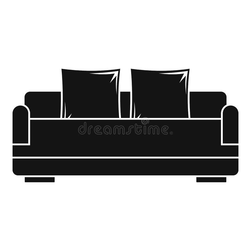 Détendez l'icône de sofa, style simple illustration de vecteur