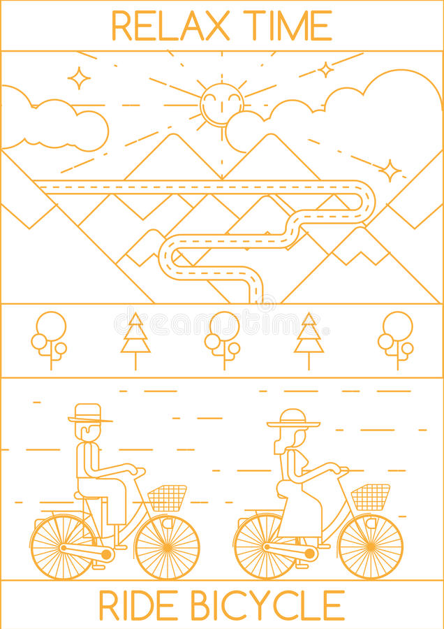 DÉTENDEZ LA BICYCLETTE DE TOUR DE TEMPS illustration libre de droits