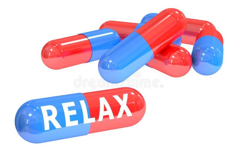 Détendez le concept avec des pilules illustration libre de droits