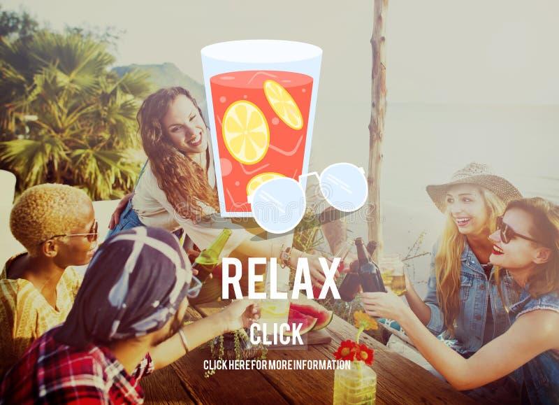 Détendez le concept de froid de relaxation de repos d'été image stock