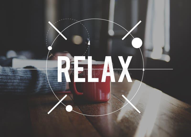 Détendez le concept de la vie de bonheur de relaxation photographie stock