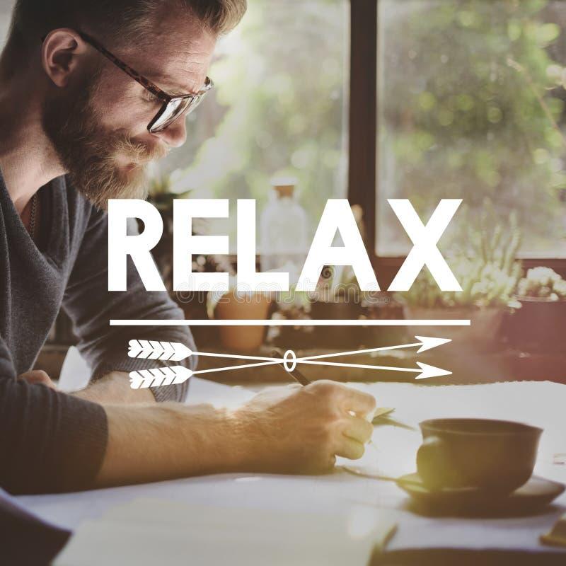 Détendez le concept de sérénité de paix de liberté de repos de relaxation photos stock