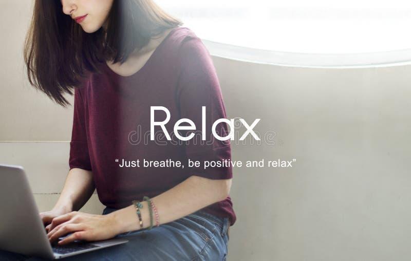 Détendez le concept de sérénité de paix de relaxation photos stock