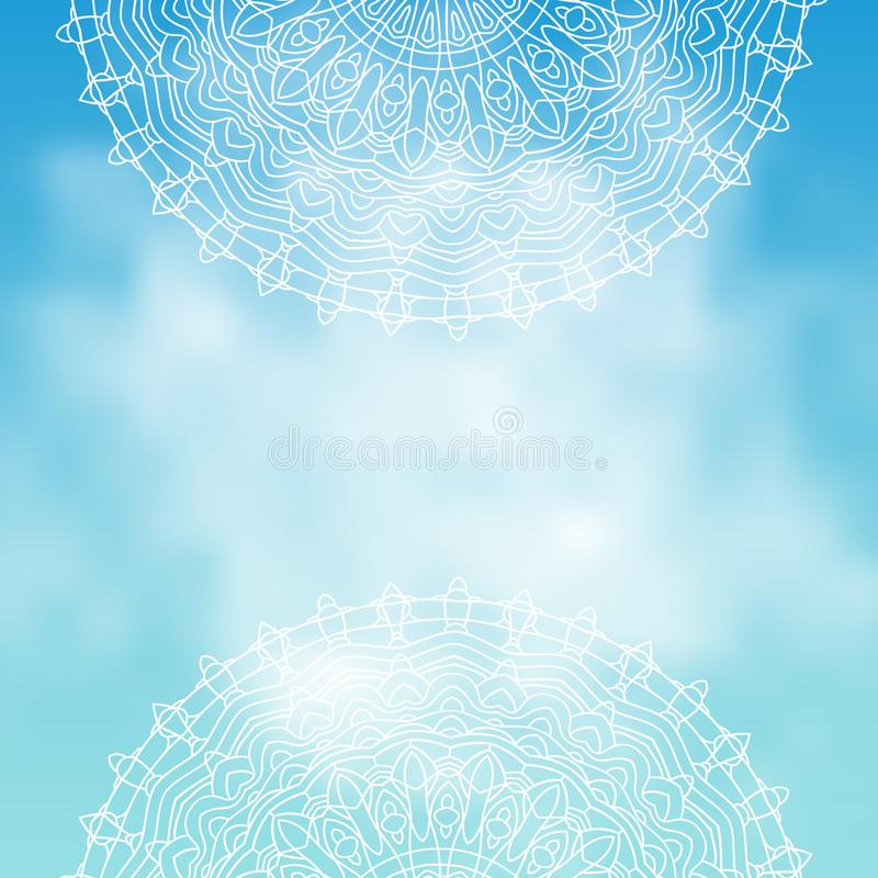 Détendez le fond de ciel Illustration de vecteur illustration de vecteur