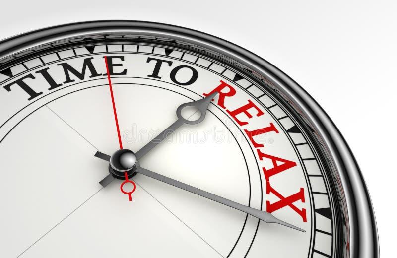 Détendez le mot rouge sur l'horloge de concept illustration de vecteur