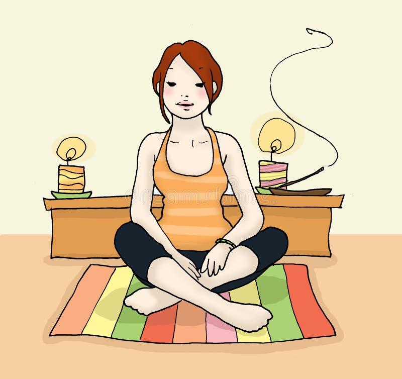 détendez le yoga illustration de vecteur