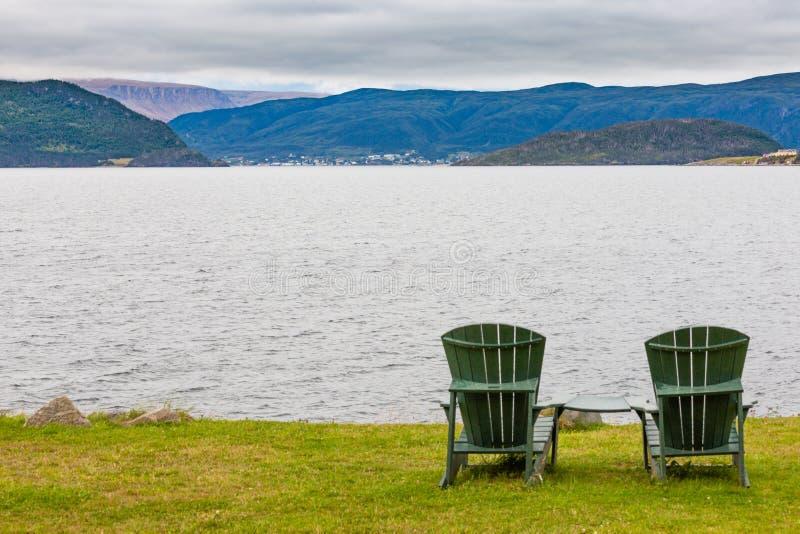 Détente dans le Canada côtier du NL de paysage de Gros Morne photographie stock