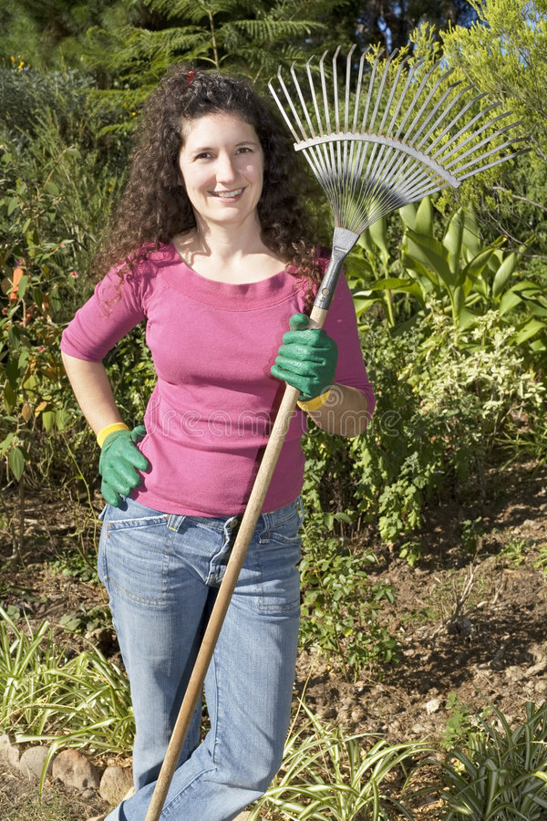Détente de jardinier photographie stock libre de droits