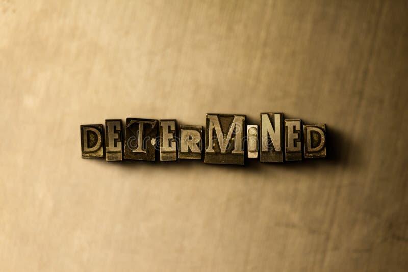 DÉTERMINÉ - le plan rapproché du vintage sale a composé le mot sur le contexte en métal illustration de vecteur