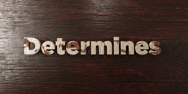 Détermine - titre en bois sale sur l'érable - l'image courante gratuite de redevance rendue par 3D illustration de vecteur