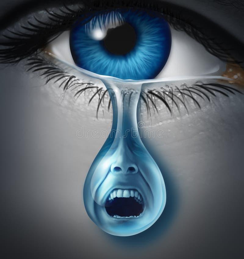 Détresse et souffrance illustration libre de droits