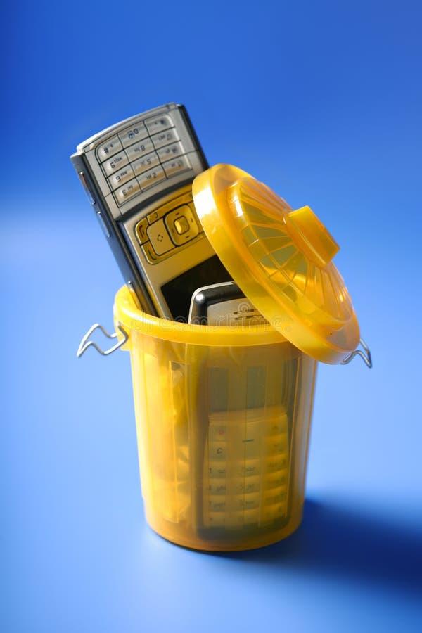 détritus de téléphone de Mobil de cellules photographie stock libre de droits