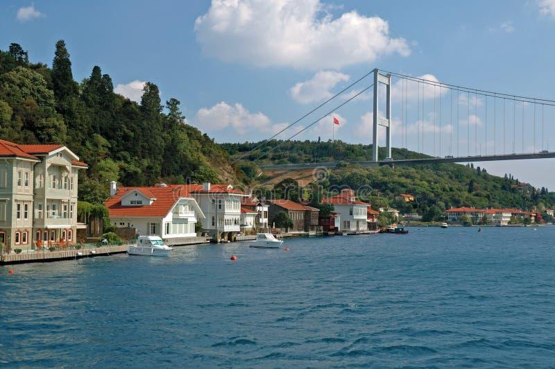 Détroit de Bosphorus à Istanbul, dinde photo libre de droits