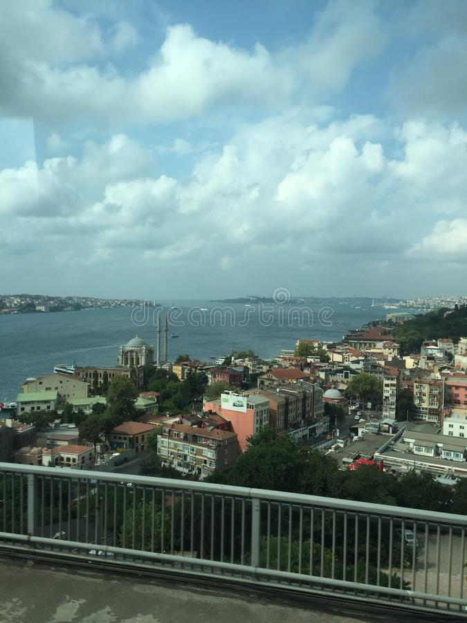 Détroit de Bosphorus, vue du pont images stock