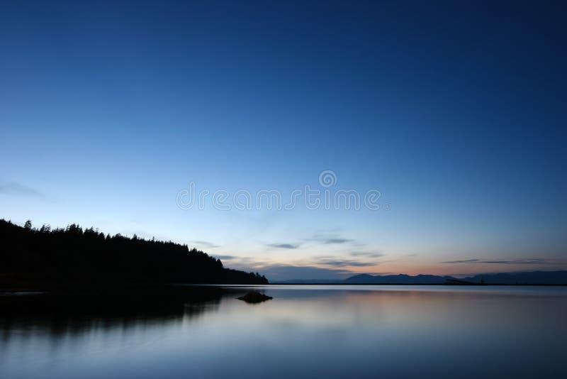 Détroit de Juan de Fuca, côte de l'état de Washington photographie stock libre de droits