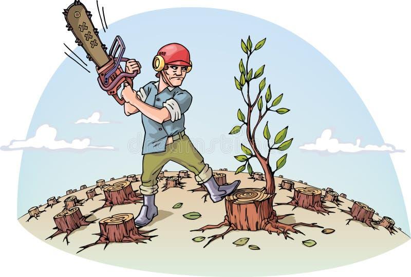 Détruire la forêt illustration stock